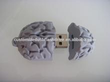 special design brain shape USB flash memory PVC /usb key /silicone USB flash drive brain shape