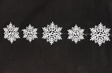 most popular wholesale 5 in 1 christmas decorations,christmas snowflake