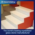 el diseño moderno de vidrio de cristal de piedra escalerainterna residencial