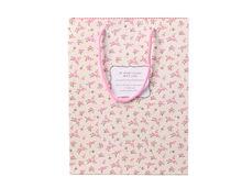Wholsale Pink Rose Print Gift Rope Handle Kraft Design Paper Bags