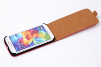 Genuine Leather Fip Cover Case For Samsung Galaxy S5, leather case for Samsung S5