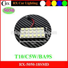 Dome 5050 18SMD 12V Auto PCB Led Dome Reading No Delay