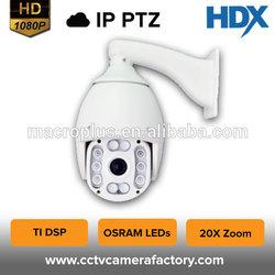 ONVIF H.264 IR CUT motion 2.0MP detection metal housing 20X zoom Pan and Tilt HD Speed Dome IP wifi Camera
