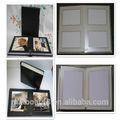 Wholsesale album di nozze bianco nero marrone con tessuto cover\leather cover\pvc fogli