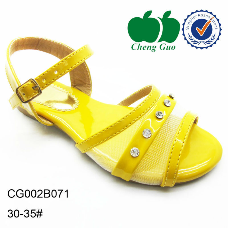 Yellow Tops For Girls Yellow Girl Holey Sandals