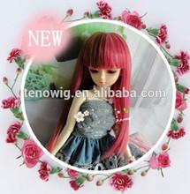 Super cute Qingdao port 100%heat resistant synthetic bjd doll wig