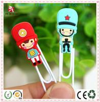 man to man sexy pvc bookmark / rubber paper clip / pvc paper clip