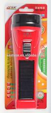 2014 Newest LED Rechargeable Solar Torch Solar Flashlight Solar Emergency Light