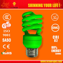 colored T3 13W Half Spiral Energy Saving Bulb 10000H CE QUALITY