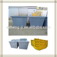 Fork truck attachment handling material skip bin for sale
