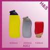 A022 400ml 200ml squeeze bottle with flip top cap,pe empty shampoo bottle; plastic shampoo bottle packaging