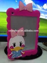 Fasctory price ! Cute cartoon silicone bumper for ipad mini case
