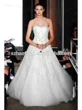 Fairy-tale A Line Strapless Floor Length Ivory Wedding Dress