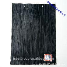 Vacuum lines popular style bark PVC shoe leather