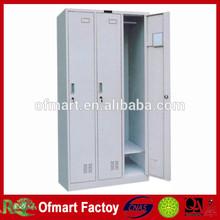 easy use storage 3 door wardrobe with mirror