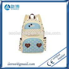 2014 fashion school bags canvas teenage girls school bag