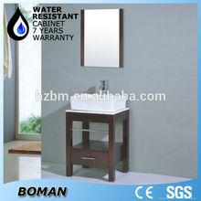 high quality counter top stone pvc bathroom wash basin cabinet