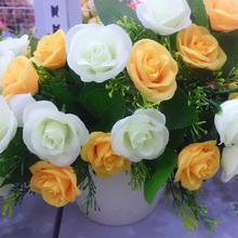 car wedding decoration artificial flower morning glor