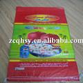Laminado pp bolsas de arroz de 25kg/25 kg pp bolso tejido para el arroz, de harina, de trigo, de grano, producto de la agricultura, de embalaje de fertilizantes bolsa