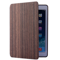 low price bamboo case for ipad 5 cover wood high quality with sleep function