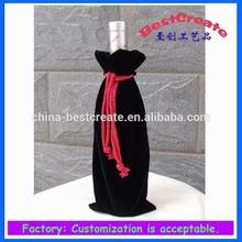 Factory supply velvet wine bottle bag with logo