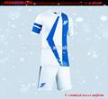 personalização completa o desgaste da equipe sublimada uniforme top custom futebol jersey conjunto