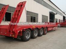 16 wheel heavy duty HYD 120ton 4 axles low bed semi trailer