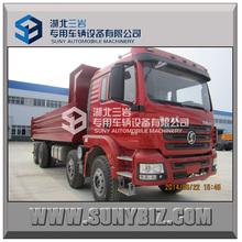 Shacman new M3000 8X4 25t,30t,35t ,40t 20m3 25m3 30m3 hydraulic front lifting heavy rear dump truck