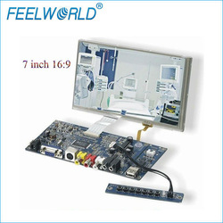 7inch lcd display 800x480 with 4 wire touchscreen hdmi vga rca and dvi inputs