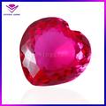 popular en forma de corazón rosa de corte rubí sintético de carat precio