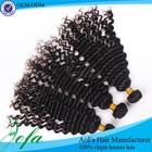 Deep wave virgin hair weave 100% human indian hair extension