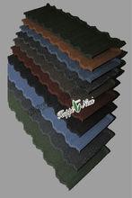 Terracotta Stone Coated Roof Tiles / Fiberglass Roof Panel / Black Corrugated Roofing Sheet