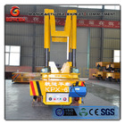 rail guided scrap bucket car with weighing unit