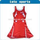 sexy red netball dresses uniform in Tennis Wear