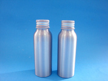 100ml aluminium bottle with aluminium cap, aluminium drinking bottle