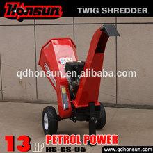 High quality garden shredder Honda motor CE approved Kohler gas engine trailer hydraulic log shredder for sale