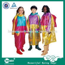 Luxury kid waterproof pvc coated raincoat/pvc children raincoat