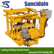 small you scheme to gain money/small block making machinery/semi automatic concrete block machine machine QT40-3A