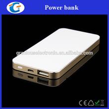 Wholesale Lithium Polymer Ultrathin 5000mAh Power Bank Silver