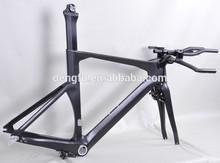 Dengfu time trial bicycle, carbon fiber triathlon frame, di2 and mechanical TT frameset