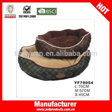 Check Printing Manufacturer Soft Hamburger Large Dog Bed