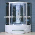 HTSR-8808 luxury modern steam shower cabin with tempered glass