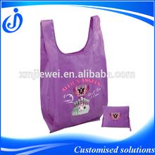 Printed Custom Foldable Polyester Shopping Bag
