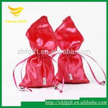 New fashion calla lily shape drawstring satin bag for wedding candy