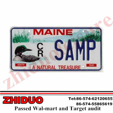 Aluminum European engraved letter license plate