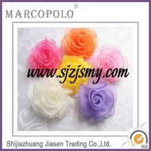 Wedding organza rose chair sash/embroidered rose chair sash