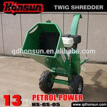 High quality garden shredder Honda motor CE approved Kohler gas engine trailer hydraulic log chipper with petrol engine
