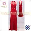 Cy62570 col haut noir et rouge arabe Kaftan Abaya robe de soirée de bal