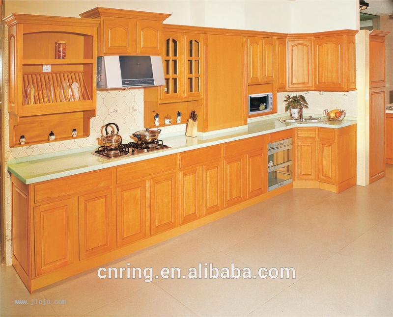 2015 moderne bois de ch ne en bois massif armoires de for Cuisine en bois moderne 2015