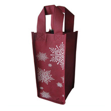 polypropylene foldable recycle customized high quality non woven 4 bottle wine tote bag